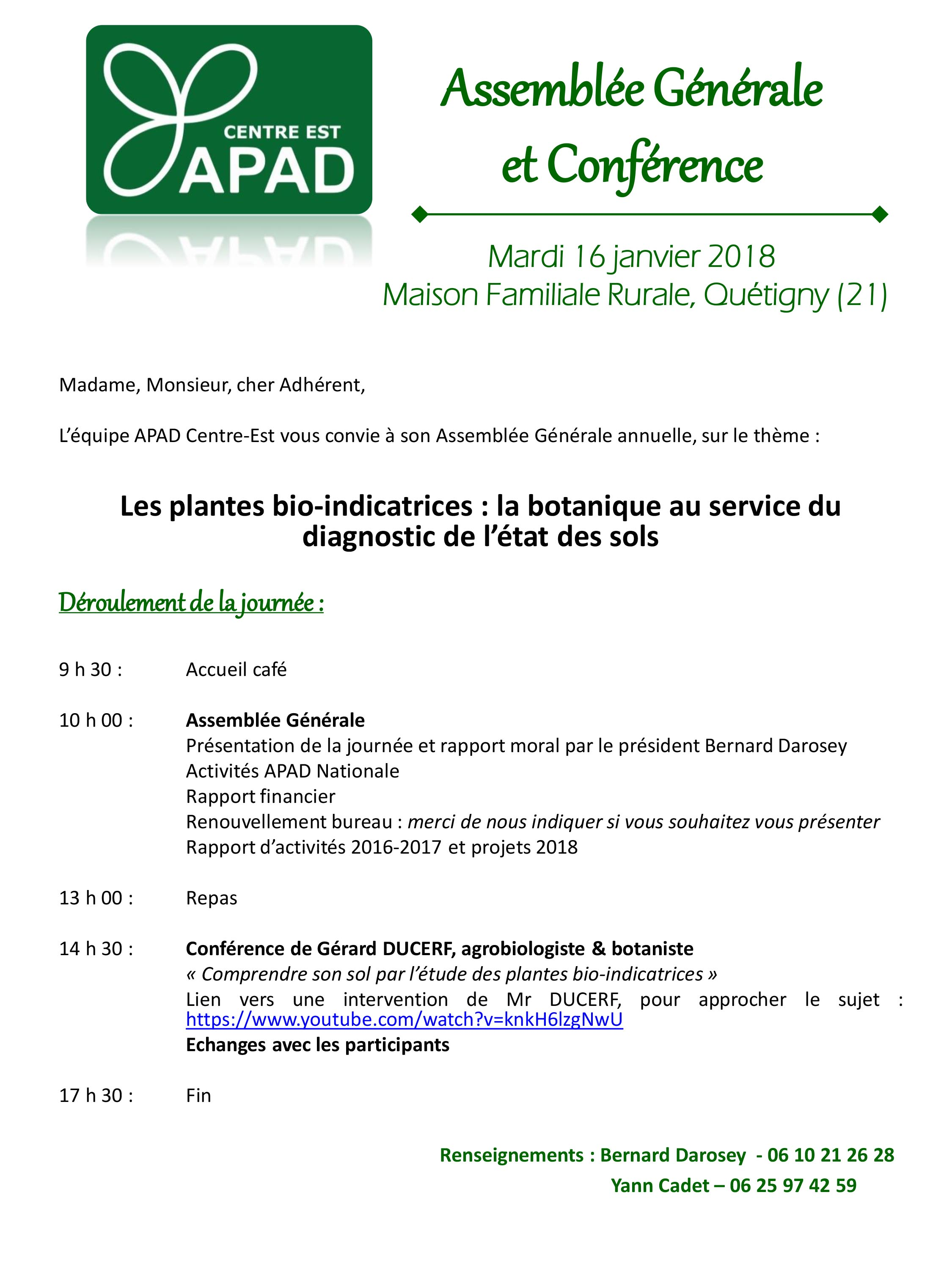 Invitation AG APAD 2018